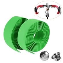 1 Paar TOSEEK Nieuwe Fiets Fiets Sportfiets Cork Stuurtape Wrap + 2 Bar Plug (Groen)