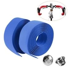 1 Paar TOSEEK Nieuwe Fiets Fiets Sportfiets Cork Stuurtape Wrap + 2 Bar Plug(Blauw)