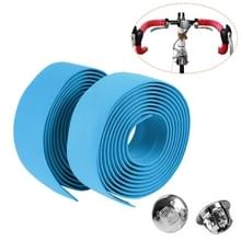 1 Paar TOSEEK Nieuwe Fiets Racefiets Fiets Cork Stuurtape Wrap + 2 Bar Plug (Baby Blue)