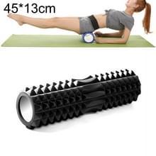 Yoga Pilates fitness EVA roller muscle ontspannings massage  grootte: 45cm x 13cm (zwart)