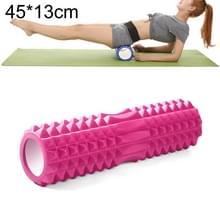 Yoga Pilates fitness EVA roller muscle ontspannings massage  grootte: 45cm x 13cm (roze)