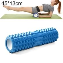 Yoga Pilates fitness EVA roller muscle ontspannings massage  grootte: 45cm x 13cm (blauw)