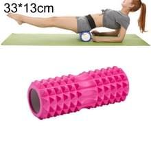 Yoga Pilates fitness EVA roller muscle ontspannings massage  grootte: 33cm x 13cm (roze)