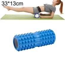 Yoga Pilates fitness EVA roller muscle ontspannings massage  grootte: 33cm x 13cm (blauw)