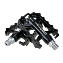 SHANMASHI SMS-07 1Pair aluminiumlegering pedaal antislip comfortabele fiets opvouwbare pedaal (zwart)