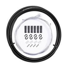7 in 1 Cilindrische Kop PVC Remkabelset voor mountainbike (zwart)