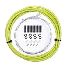 7 in 1 Cilindrische Kop PVC Remkabelset voor mountainbike (groen)