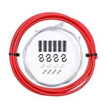 7 in 1 Cilindrische Kop PVC Remkabelbuis Set voor Mountainbike (Rood)