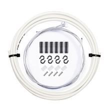7 in 1 Cilindrische Kop PVC Remkabelbuis Set voor Mountainbike (Wit)