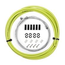 7 in 1 Mushroom Head PVC Brake Cable Tube Set voor racefiets (Groen)