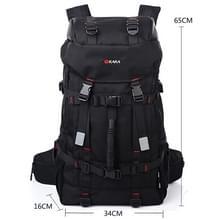 KAKA Grote capaciteit Travel Rugzak Outdoor Oxford Cloth 55L Waterdichte bergbeklimmers tas met lock(zwart)