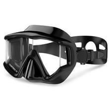 DM600 silicagel DUIKMASKER zwembrillen duikuitrusting voor volwassenen (zwart)