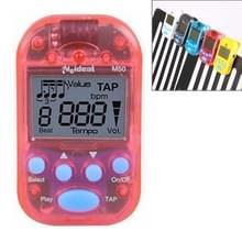 Mini professionele elektronische Piano viool Clip metronoom van de kwalitatief hoogwaardige digitale Tuner M50(Red)