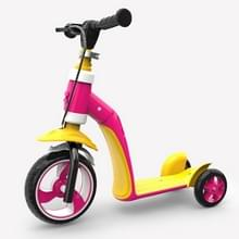 2 op de 1 kinderen Multi-functionele Driewielige Walker Scooter (Roze)