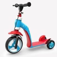 2 op de 1 kinderen Multi-functionele Driewielige Walker Scooter (Blauw)
