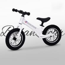 Magnesium legering kinderen balans fiets zonder pedaal driewielige Slide Peuter Fiets (Wit)