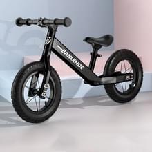 Aluminium legering geïntegreerde lichaam kinderen balans fiets zonder pedaal driewielige Slide Peuter Fiets (Zwart)
