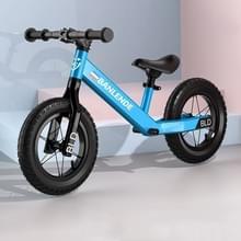 Aluminium legering geïntegreerde lichaam kinderen balans fiets zonder pedaal driewielige Slide Peuter Fiets (Blauw)