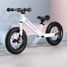 Aluminium legering geïntegreerde lichaam kinderen balans fiets zonder pedaal driewielige Slide Peuter Fiets (Wit)