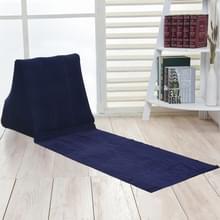 Buiten strand PVC dikke stroomden strand mat opblaasbare driehoek pad  grootte: 150x38x46cm (donkerblauw)