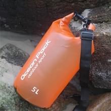 Buiten waterdichte enkele droge tas Dry Sack PVC vat schoudertas  capaciteit: 5L (oranje)