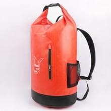 Buiten waterdichte droge dubbele schouderriem tas Dry Sack Trekking rugzak (oranje)