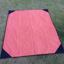 Draagbare buiten waterdichte vocht-proof Camping Mat opvouwbare gazon Mat  maat: 140 x 180cm (oranje)