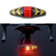 Fietsachterlicht Intelligent Wireless Control Turn Signal Bike RearRemlicht met mount holder strap  batterijmodellen (zwart)