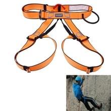 Klimmen Harness veilig dragen van de veiligheidsgordel voor Rock hoog niveau speleologie klimmen verstelbare abseilen apparatuur halve lichaam bewaker Protect(Orange)