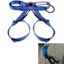 Klimmen Harness veilig dragen van de veiligheidsgordel voor Rock hoog niveau speleologie klimmen verstelbare abseilen apparatuur halve lichaam bewaker Protect(Blue)
