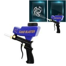 Draagbare blauwe zwaartekracht zandstraal machine mini roestwerende Sandblaster spray Mechine