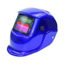 Solar automatische variabele licht elektrisch lassen beschermende masker lassen helm (blauw)