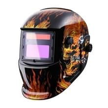 Vlam patroon zonne-automatische variabele lichte elektrische lassen beschermend masker lassen helm