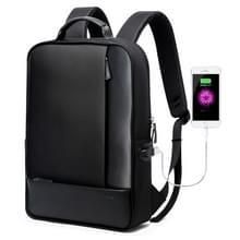 Bopai 851-002611 Business afneembare anti-diefstal waterdichte grote capaciteit dubbele schoudertas  met USB opladen poort  grootte: 30x15x44cm (zwart)