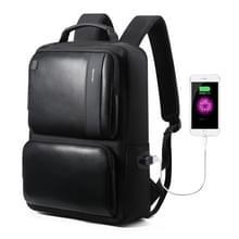 Bopai 851-007311 Business anti-diefstal waterdichte grote capaciteit dubbele schoudertas  met USB opladen poort  grootte: 31.5 x16x44cm (zwart)