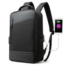 Bopai 851-009911 Business anti-diefstal waterdichte grote capaciteit dubbele schoudertas  met USB opladen poort  grootte: 30.5 x13x45cm (zwart)