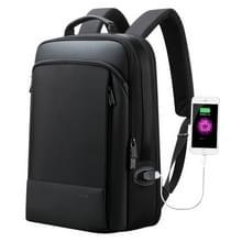 Bopai 61-07311 grote capaciteit anti-diefstal waterdichte rugzak laptop Tablet tas voor 15 6 inch en lager  externe USB opladen poort (zwart)