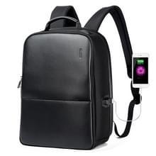 Bopai 751-006431 Business waterdichte anti-diefstal grote capaciteit dubbele schoudertas  met USB opladen poort  grootte: 27x 16.5 x40cm (zwart)