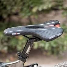 BaseCamp BC-651 Road Bike Leather Seat Bicycle Hollow Seat Saddle(Zwart)
