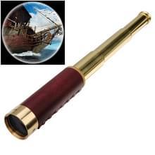 25 x 30 draagbare piraat monoculaire professionele visie monoculaire telescoop met leerzak (goud)