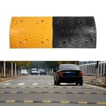Golvende rubberen verkeersdrempel  grootte: 100x38x5cm