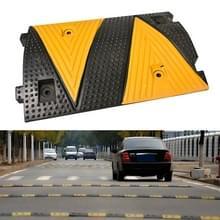 Driehoek geel plastic twee-in-een verkeersdrempel  grootte: 50x35x5cm