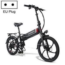 [EU Warehouse] 20LVXD30 20 Inch 48V Lithium Battery 350W Mini Valet Driving Folding Electric Bicycle(Zwart)