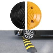 Paar speciale ronde hoofden voor rubberen verkeersdrempels  diameter: 35cm