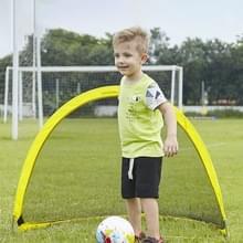 Draagbare semi-circulaire Voetbal Training Gate voor kinderen  Grootte: 120cm (Geel)