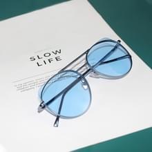 7254 stralingsbescherming kleur Cat Eye metalen frame zonnebrillen (blauw)