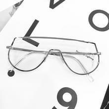 7718 holle metalen ééndelig frame ééndelig zonnebril (Zilver frame transparant)