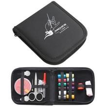 Draagbare Mini Home reizen naaien Set-Box  formaat: 12*12.5cm(Black)