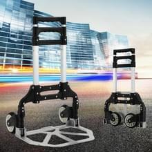 Twee-sectie opklapbare draagbare Trolley Mini bagage  huishoudelijke winkelen kleine rolkoffer  Load 75 kg (zwart)