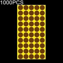 1000 PCS ronde vorm zelfklevende kleurrijke Mark sticker Mark label (koffie)